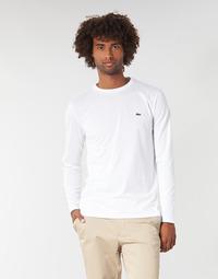 Textiel Heren T-shirts met lange mouwen Lacoste TH6712 Wit