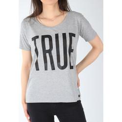 Textiel Dames T-shirts korte mouwen Lee T-shirt  Ultimate Tee L42JEP37 grey