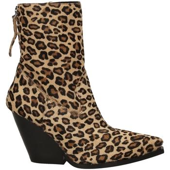 Schoenen Dames Enkellaarzen Poesie Veneziane CAVALLINO SAFARI leopa-leopardo