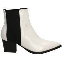Schoenen Dames Enkellaarzen Lemaré HARRODS ELASTICO biane-bianco-nero