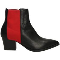 Schoenen Dames Enkellaarzen Lemaré TEXAS CON ELASTICO neros-nero-rosso