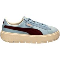 Schoenen Dames Lage sneakers Puma PLATFORM TRACE CORDU cerul-celeste