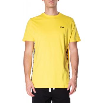 Textiel Heren T-shirts korte mouwen Fila TALAN TEE SS vibye-giallo