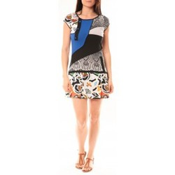 Textiel Dames Korte jurken Bamboo's Fashion Robe BA1513 Bleu Blauw