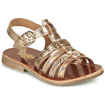Schoenen Meisjes Sandalen / Open schoenen GBB BANGKOK Roze / Goud