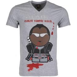 Textiel Heren T-shirts korte mouwen Local Fanatic Blade Fearless Vampire Killer Grijs
