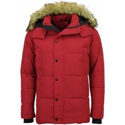 Textiel Heren Dons gevoerde jassen Enos Winterjas - Met Bontkraag - Rood