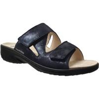 Schoenen Dames Leren slippers Mobils By Mephisto Geva Marineblauw leer