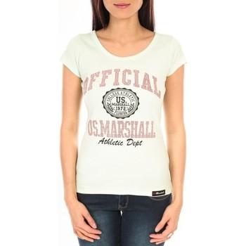Textiel Dames T-shirts korte mouwen Sweet Company T-shirt US Marshall vert clair F.T110 Groen