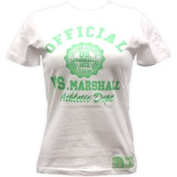 Textiel Dames T-shirts korte mouwen Sweet Company T-shirt US Marshall Blanc florida Wit