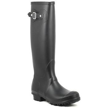 Schoenen Dames Regenlaarzen Moda Italiana BOB Noir