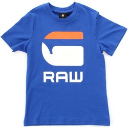 Textiel Kinderen T-shirts korte mouwen Gstar Raw SP10016 Blue