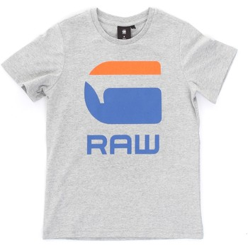 Textiel Kinderen T-shirts korte mouwen Gstar Raw SP10016 Grey