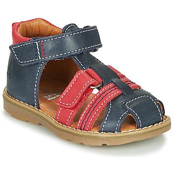 Schoenen Jongens Sandalen / Open schoenen GBB MACARON Marine / Rood