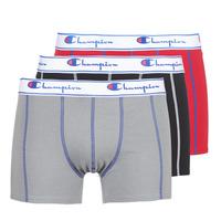 Ondergoed Heren Boxershorts Champion BOXER UNIS PACK DE 3 Rood / Grijs / Zwart