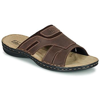 Schoenen Heren Leren slippers TBS BELTONN Bruin
