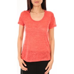 Textiel Dames T-shirts korte mouwen By La Vitrine T-Shirt BLV07 Corail Oranje