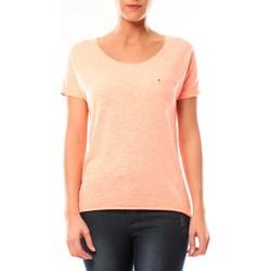 Textiel Dames T-shirts korte mouwen By La Vitrine Tee shirt S13090 Corail Oranje