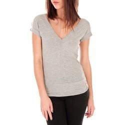 Textiel Dames T-shirts korte mouwen By La Vitrine T-shirt dos cache coeur 017 Gris Grijs