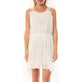 Textiel Dames Korte jurken Tcqb Robe NF 702 Blanc Wit