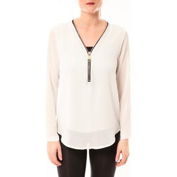 Textiel Dames Tops / Blousjes Vera & Lucy Chemisier Simple Blanc Wit