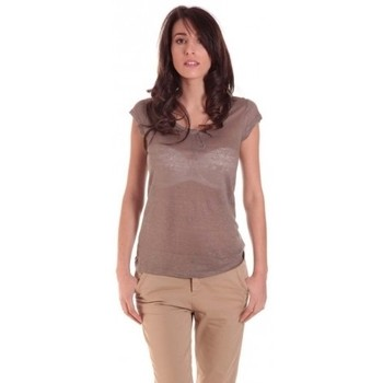 Textiel Dames T-shirts korte mouwen Sud Express TEE-SHIRT TARIKA BRONZE Goud