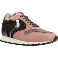 Schoenen Dames Lage sneakers Voile Blanche JULIA SLAM FUR NABUK Roze