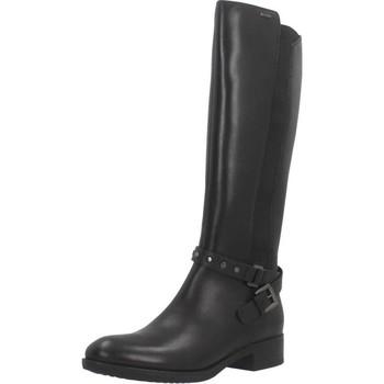 Schoenen Dames Hoge laarzen Geox D FELICITY NP ABX Zwart