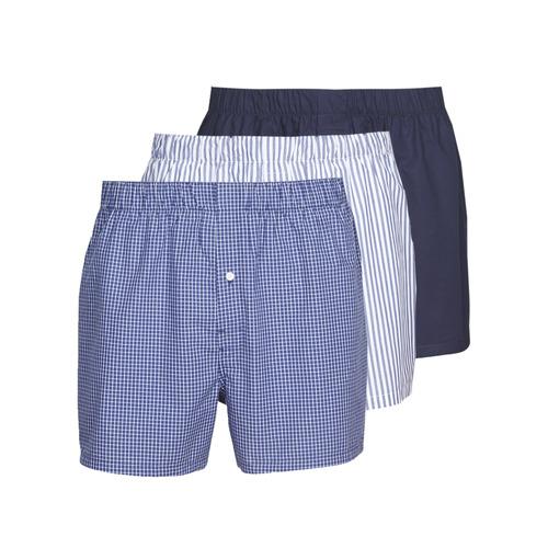 Ondergoed Heren Boxershorts Lacoste 7H3394-8X0 Wit / Blauw