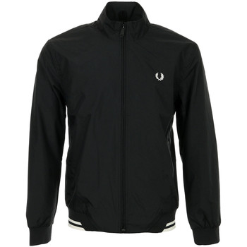 Textiel Heren Wind jackets Fred Perry Jacket Brentham Zwart