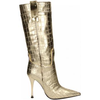 Schoenen Dames Hoge laarzen Ororo STIVALE PELLE LAMINATO platino