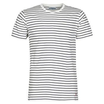 Textiel Heren T-shirts korte mouwen Casual Attitude KINO Marine / Wit