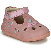 Schoenen Meisjes Sandalen / Open schoenen Kickers BLUPINKY Roze / Zilver