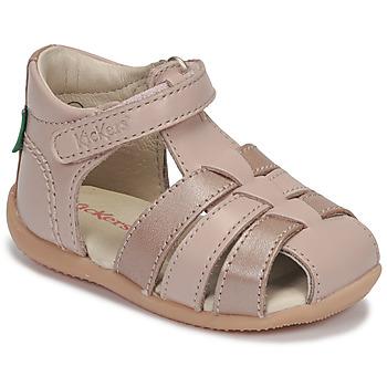 Schoenen Meisjes Sandalen / Open schoenen Kickers BIGFLO-2 Roze / Metaal