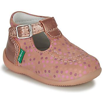 Schoenen Meisjes Sandalen / Open schoenen Kickers BONBEK-3 Roze / Polka dot