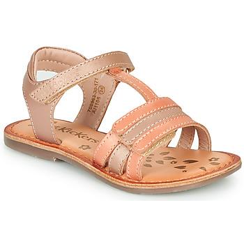 Schoenen Meisjes Sandalen / Open schoenen Kickers DIAMANTO Roze / Oranje