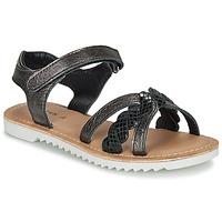 Schoenen Meisjes Sandalen / Open schoenen Kickers SHARKKY Zwart