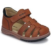 Schoenen Jongens Sandalen / Open schoenen Kickers PLATIBACK Bruin