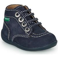 Schoenen Kinderen Laarzen Kickers BONZIP-3 Marine