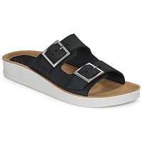 Schoenen Dames Leren slippers Kickers OVIDA Zwart