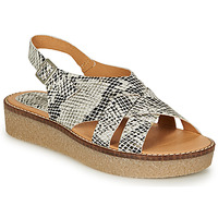 Schoenen Dames Sandalen / Open schoenen Kickers VICTORYNE Wit / Zwart / Slang