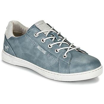 Schoenen Dames Lage sneakers Mustang  Blauw