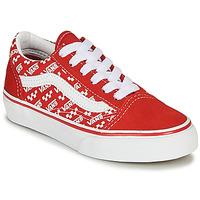Schoenen Kinderen Lage sneakers Vans OLD SKOOL Rood / Wit
