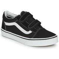 Schoenen Kinderen Lage sneakers Vans JN Old Skool V Zwart / Wit