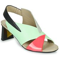 Schoenen Dames Sandalen / Open schoenen United nude SPARK SANDAL MID Blauw / Roze