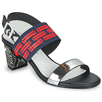 Schoenen Dames Sandalen / Open schoenen United nude POP SANDAL MID Zwart / Rood