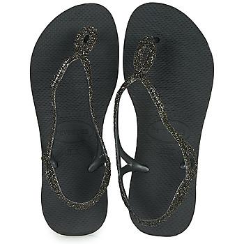 Schoenen Dames Teenslippers Havaianas LUNA PREMIUM Zwart