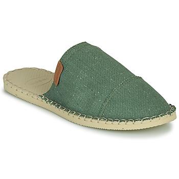 Schoenen Dames Leren slippers Havaianas ORIGINE FREE Groen