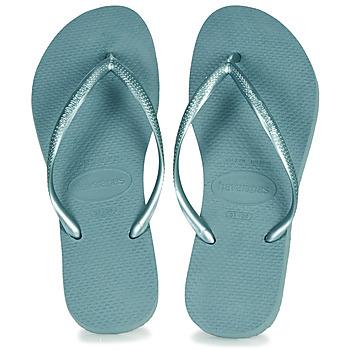 Schoenen Dames Teenslippers Havaianas SLIM Blauw