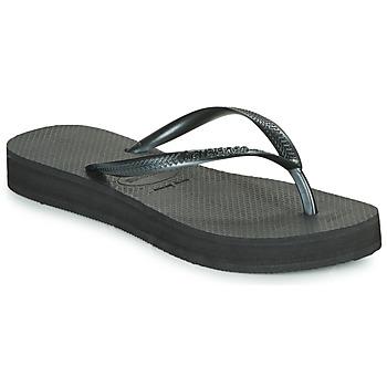Schoenen Dames Teenslippers Havaianas SLIM FLATFORM Zwart